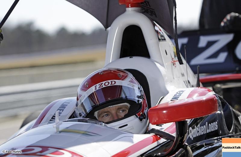 MARCH 12:A.J. Allmendinger at IndyCar Spring Training at Barber Motor Sports Park.