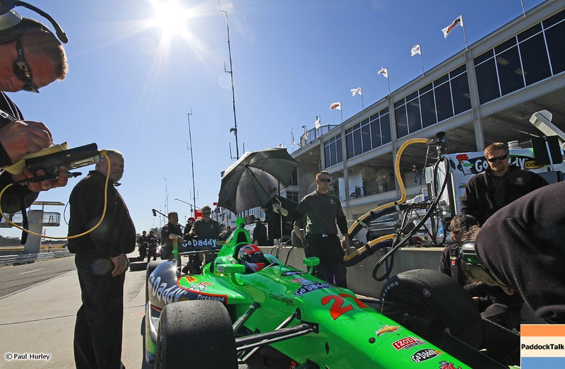 MARCH 12:James Hinchcliffe at IndyCar Spring Training at Barber Motor Sports Park.