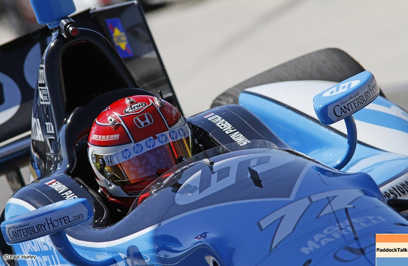 MARCH 12:Simon Pagenaud at IndyCar Spring Training at Barber Motor Sports Park.