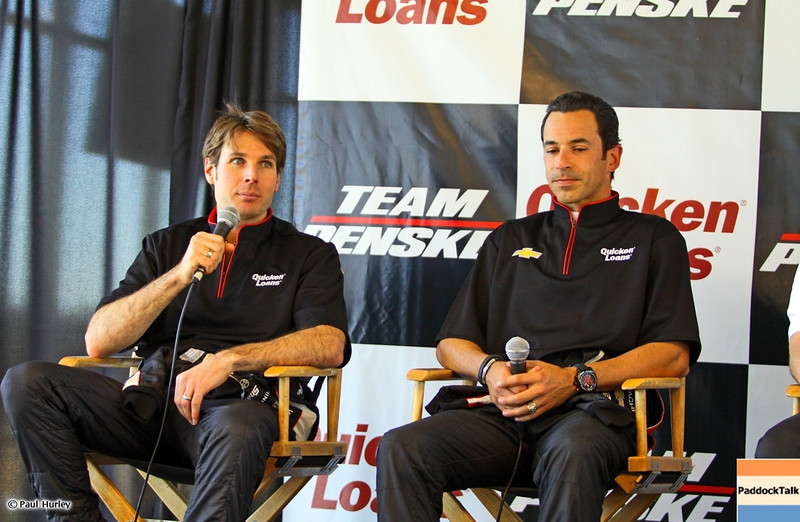 MARCH 12:Will Power Helio Castroneves at IndyCar Spring Training at Barber Motor Sports Park.