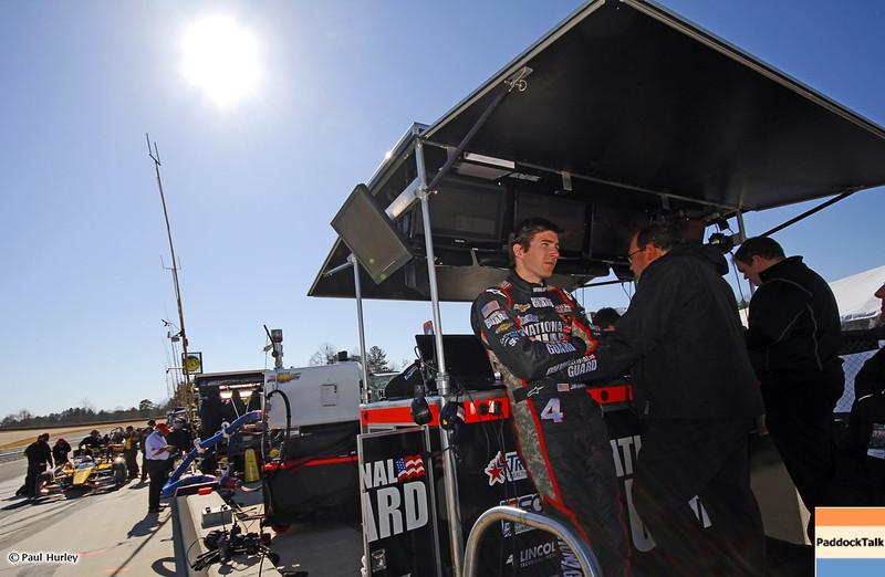 MARCH 12:J.R. Hildebrand at IndyCar Spring Training at Barber Motor Sports Park.