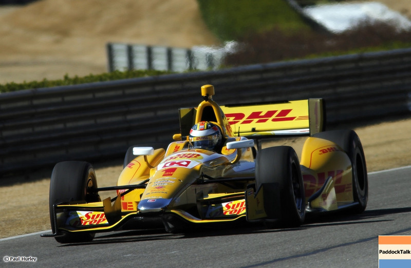 March 13:Ryan Hunter-Reay at IndyCar Spring Training at Barber Motor Sports Park.