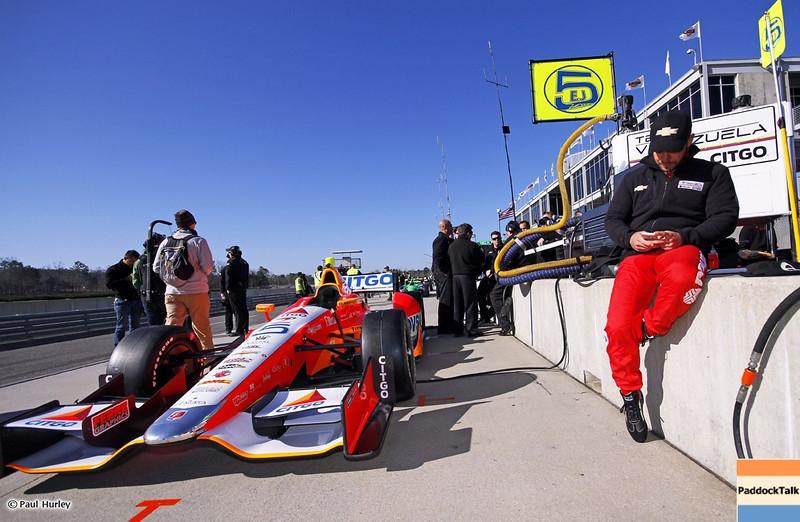 MARCH 12:E.J. Viso at IndyCar Spring Training at Barber Motor Sports Park.