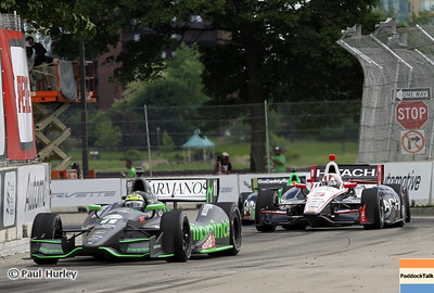 June 2: Tony Kanaan and Will Power during the Chevrolet Detroit Belle Isle Grand Prix.