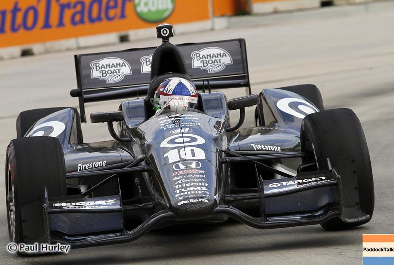 June 2: Dario Franchitti during the Chevrolet Detroit Belle Isle Grand Prix.