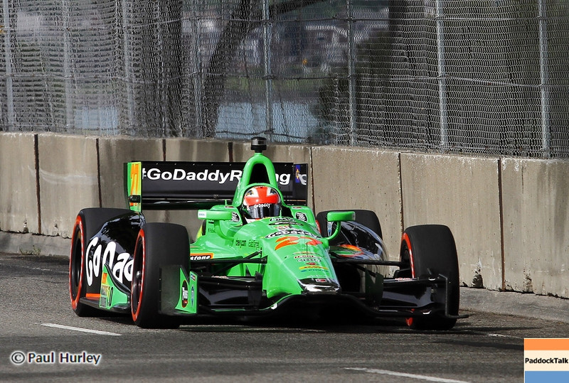 June 1: James Hinchcliffe during the Chevrolet Detroit Belle Isle Grand Prix.