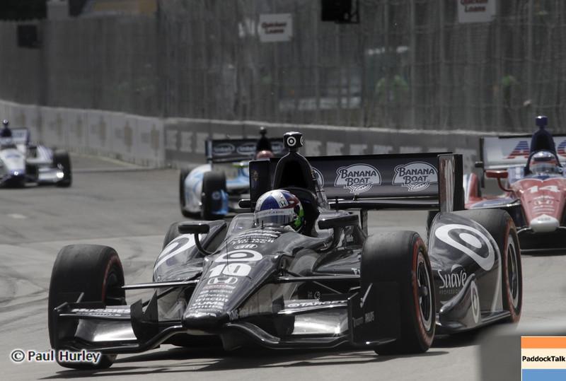 June 1: Dario Franchitti during the Chevrolet Detroit Belle Isle Grand Prix.