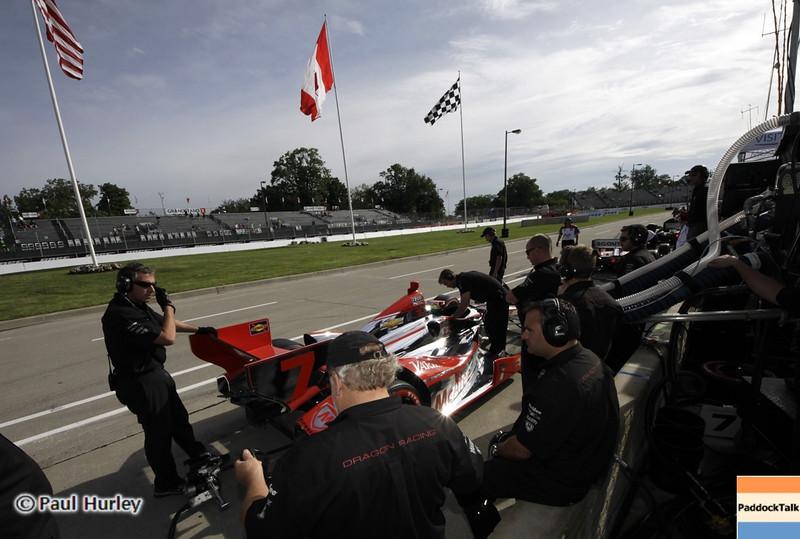 June 1: Pit lane during the Chevrolet Detroit Belle Isle Grand Prix.