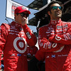 May 14: Scott Dixon and Dario Franchitti during practice for the 97 Indianapolis 500 at the Indianapolis Motor Speedway.