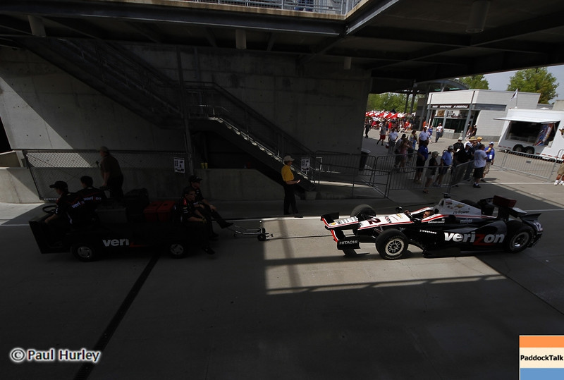 May 15: Garage entrance during practice for the 97th Indianapolis 500 at the Indianapolis Motor Speedway.