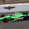 May 14: James Hinchcliffe during practice for the 97 Indianapolis 500 at the Indianapolis Motor Speedway.