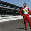 May 14: Helio Castroneves during practice for the 97 Indianapolis 500 at the Indianapolis Motor Speedway.