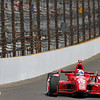 May 12: Dario Franchitti during practice for the 97th Indianapolis 500 at the Indianapolis Motor Speedway.