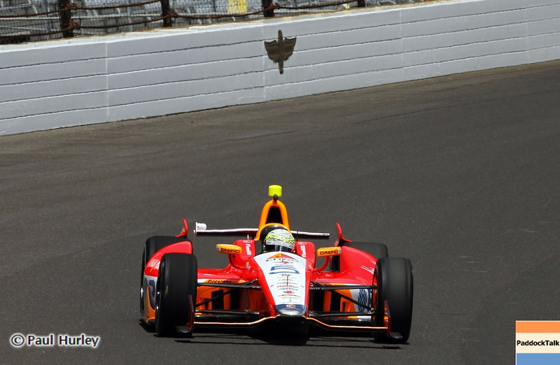 May 12: E.J. Viso during practice for the 97th Indianapolis 500 at the Indianapolis Motor Speedway.