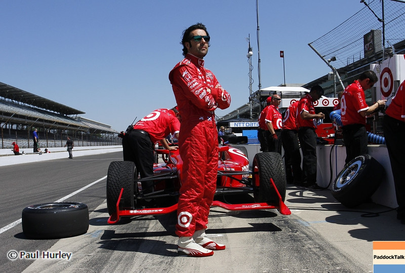 May 14: Dario Franchitti during practice for the 97 Indianapolis 500 at the Indianapolis Motor Speedway.