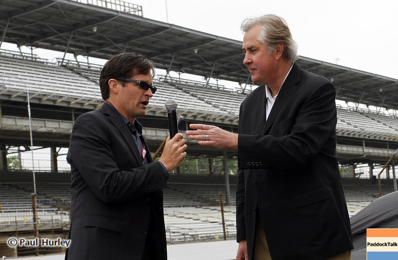 May 11: Doug Boles, Jeffery Belskus during practice for the 97th Indianapolis 500 at the Indianapolis Motor Speedway.