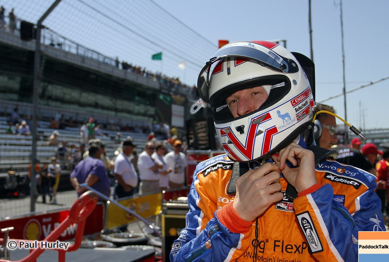 May 14: Charlie Kimball during practice for the 97 Indianapolis 500 at the Indianapolis Motor Speedway.
