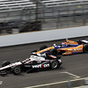 May 15: Will Power and Charlie Kimball during practice for the 97th Indianapolis 500 at the Indianapolis Motor Speedway.