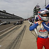 May 15: Takuma Satoduring practice for the 97th Indianapolis 500 at the Indianapolis Motor Speedway.