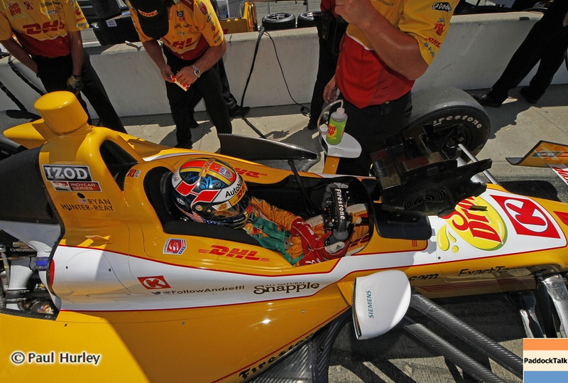 May 15: Ryan Hunter-Reay during practice for the 97th Indianapolis 500 at the Indianapolis Motor Speedway.