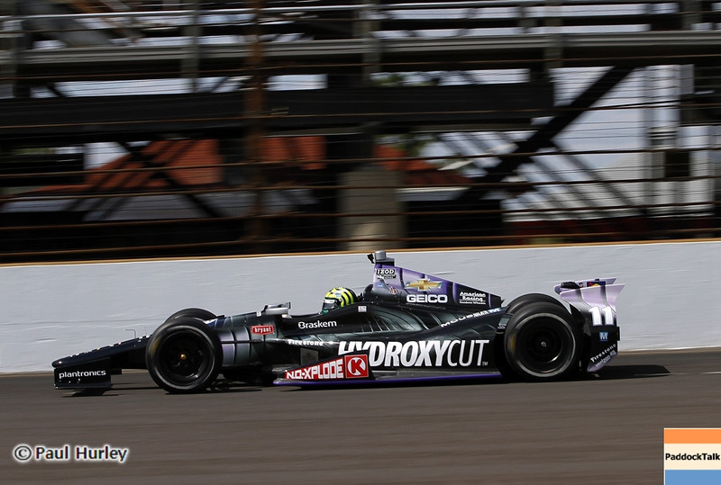 May 12: Tony Kanaan during practice for the 97th Indianapolis 500 at the Indianapolis Motor Speedway.