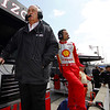 May 11: Roger Penske, Helio Castroneves   during practice for the 97th Indianapolis 500 at the Indianapolis Motor Speedway.