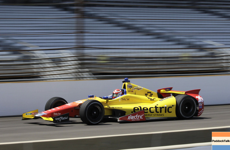 May 11: Carlos Munoz during practice for the 97th Indianapolis 500 at the Indianapolis Motor Speedway.