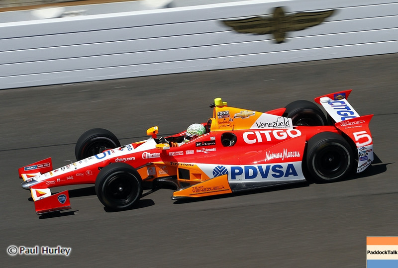 May 14: E.J. Viso during practice for the 97 Indianapolis 500 at the Indianapolis Motor Speedway.