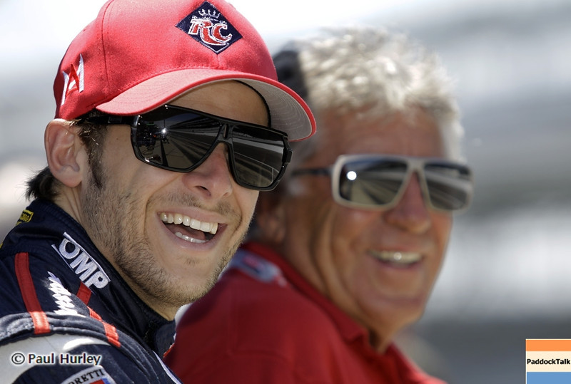 May 15: Marco and Mario Andretti during practice for the 97th Indianapolis 500 at the Indianapolis Motor Speedway.