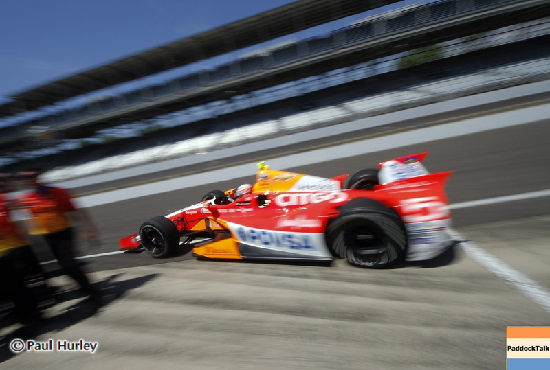 May 15: E.J. Viso during practice for the 97th Indianapolis 500 at the Indianapolis Motor Speedway.
