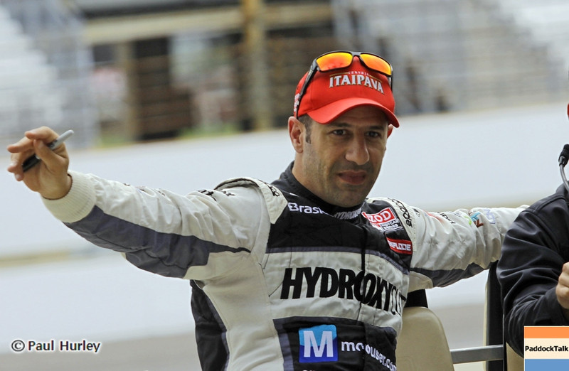 May 11: Tony Kanaan during practice for the 97th Indianapolis 500 at the Indianapolis Motor Speedway.