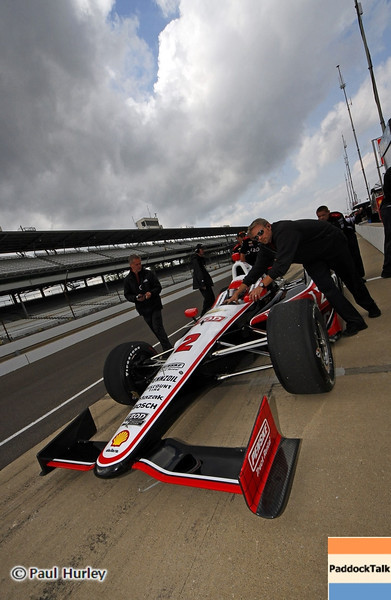 May 11: A.J. Allemendinger during practice for the 97th Indianapolis 500 at the Indianapolis Motor Speedway.