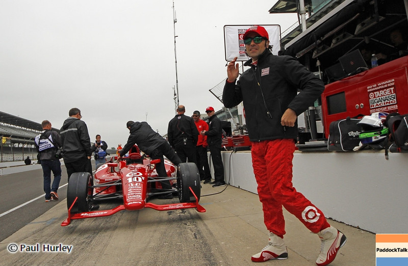 May 11: Dario Franchiiti during practice for the 97th Indianapolis 500 at the Indianapolis Motor Speedway.