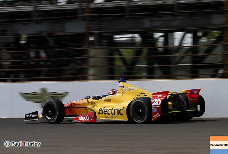 May 12: Carlos Munoz during practice for the 97th Indianapolis 500 at the Indianapolis Motor Speedway.