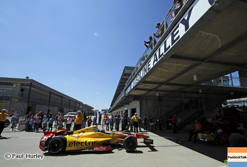 May13: Gasoline Alley during practice for the 97th Indianapolis 500 at the Indianapolis Motor Speedway.