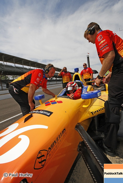 May 15: Carlos Munoz during practice for the 97th Indianapolis 500 at the Indianapolis Motor Speedway.