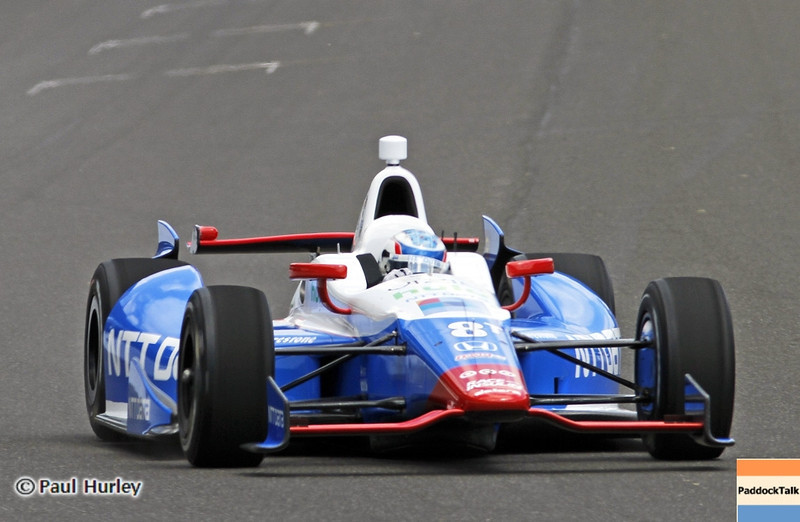 May 12: Ryan Briscoe during practice for the 97th Indianapolis 500 at the Indianapolis Motor Speedway.