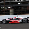 May 12: A. J. Allmendinger during practice for the 97th Indianapolis 500 at the Indianapolis Motor Speedway.