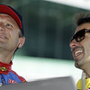 May13: Townsend Bell and Oriol Servia during practice for the 97th Indianapolis 500 at the Indianapolis Motor Speedway.