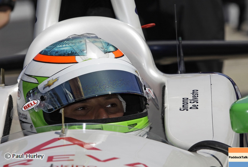 May 14: Simona de Silvestro during practice for the 97 Indianapolis 500 at the Indianapolis Motor Speedway.