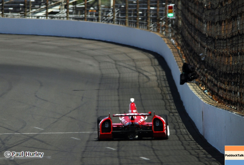May 14: Scott Dixon during practice for the 97 Indianapolis 500 at the Indianapolis Motor Speedway.