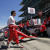 May 15: Dario Franchitti during practice for the 97th Indianapolis 500 at the Indianapolis Motor Speedway.
