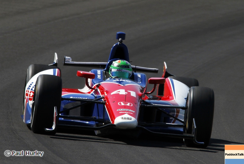 May 14: Conor Dailey during practice for the 97 Indianapolis 500 at the Indianapolis Motor Speedway.