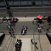 May 15: Pit lane during practice for the 97th Indianapolis 500 at the Indianapolis Motor Speedway.