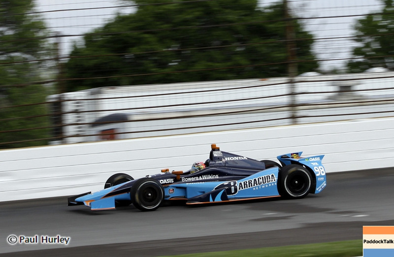 May 11: Alex Tagliani during practice for the 97th Indianapolis 500 at the Indianapolis Motor Speedway.