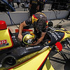 May 15: Oriol Servia during practice for the 97th Indianapolis 500 at the Indianapolis Motor Speedway.