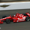 May 17: Dario Franchitti during practice for the 97th Indianapolis 500 at the Indianapolis Motor Speedway.