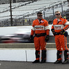 May 11: Safety crew during practice for the 97th Indianapolis 500 at the Indianapolis Motor Speedway.