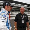 May 16: Simon Pagenaud and Derrick Walker during practice for the 97th Indianapolis 500 at the Indianapolis Motor Speedway.