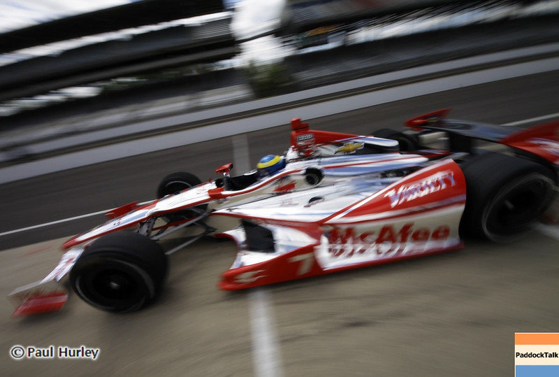 May 12: Sebastien Bourdais during practice for the 97th Indianapolis 500 at the Indianapolis Motor Speedway.